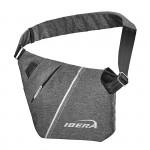 IBERA Brašna na rameno SF1 Slimline Sling Bag šedá