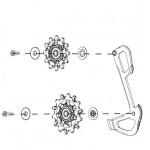 SRAM Kladky X-Sync a vnitřní vodítko pro přehazovačky GX Eagle, 12ti rychlostní