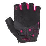 ETAPE dámské rukavice BETTY, černá/růžová
