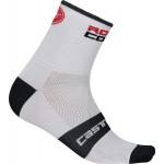 CASTELLI pánské ponožky Rosso Corsa 9 cm, white