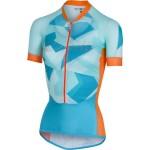 CASTELLI dámský dres Climber's, sky blue/orange fluo