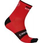 CASTELLI pánské ponožky Rosso Corsa 6 cm, red