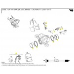 SRAM Caliper Piston Kit 2-21mm Aluminum caliper pistons, seals - Level Ultimate, TLM, eTap HRD