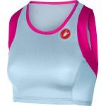 CASTELLI dámský top Free Tri Short, pale blue/pink fluo