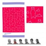 SENSOR TUBE BEARS dětský šátek multifunkční růžová