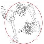 SRAM Kit vodítka a kladky pro přehazovačku EX1, 8mi rychlostní