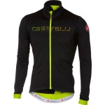 CASTELLI pánský dres Fondo FZ, light black/yellow fluo