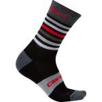 CASTELLI pánské ponožky Gregge 15, black/red