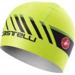 CASTELLI čepice Arrivo 3 Thermo Skully, yellow fluo