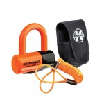 KRYPTONITE Evolution Disc Lock Premium Pack - Orange w/pouch, reminder