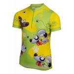 ETAPE dětský dres RIO, zelená/žlutá