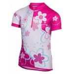 ETAPE dětský dres RIO, bílá/růžová