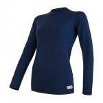 SENSOR MERINO DF dámské triko dl. rukáv deep blue