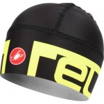 CASTELLI čepice Viva 2 Thermo, black/yellow fluo