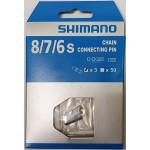 SHIMANO nýt řetězu 8 speed 3ks