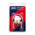 JOES JOE´S ventilky 2x Tubeless French/Presta valves 48 mm
