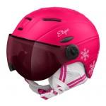 ETAPE dětská lyžařská přilba RIDER PRO, růžová/bílá mat