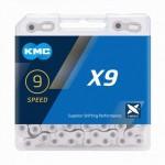KMC X9 STŘÍBRNÝ 114ČL BOX