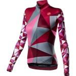 CASTELLI dámský dres Triangolo, multicolor pink
