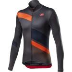 CASTELLI pánský dres Mid Thermal Pro LS, dark gray/orange