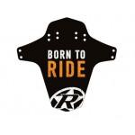 REVERSE Blatník přední MudGuard Born to ride černá/oranžová