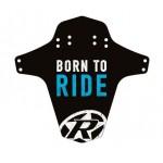 REVERSE Blatník přední MudGuard Born to ride černá/světle modrá