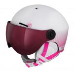 ETAPE dětská lyžařská přilba SPEEDY PRO, bílá/růžová mat