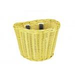 ELECTRA Košík přední ratanový malý se sponkami - Pineapple Yellow 2021