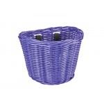 ELECTRA Košík přední ratanový malý se sponkami - Iris Purple 2021