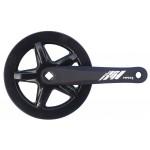 MAX1 kliky 1-převodník single 175mm/42z černý,kryt