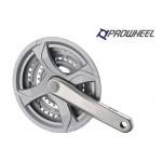PROWHEEL Trojpřevodník 170 mm 48-38-28 TY-CQ01 stříbrná