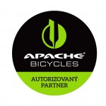 APACHE Samolepka Bicycles Autorizovaný partner