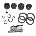 ROCKSHOX DISC BRAKE CALIPER KIT - (INCLUDES PISTONS, SEALS, GUIDE PIN, BANJO & BOLTS) - ELIXIR X0/9