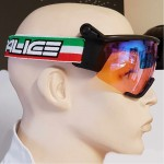 SALICE lyžařské brýle běžecké 907RWITA black/RW red