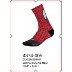 GAERNE ponožky Monogram Long red L-XL