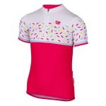 ETAPE dětský dres RIO, růžová/bílá