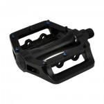 LONGUS pedály BMX AL černé,kuličkové,vyměnitelné h