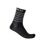 CASTELLI pánské ponožky Go 15, dark gray/white