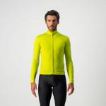 CASTELLI pánský dres Pro Thermal Mid LS, chartreuse