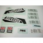 ROCKSHOX Decal Kit PIKE 26/27.5/29 Black/White Lower Leg