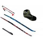 SKOL Set běžky vázání RS, hůlky, boty